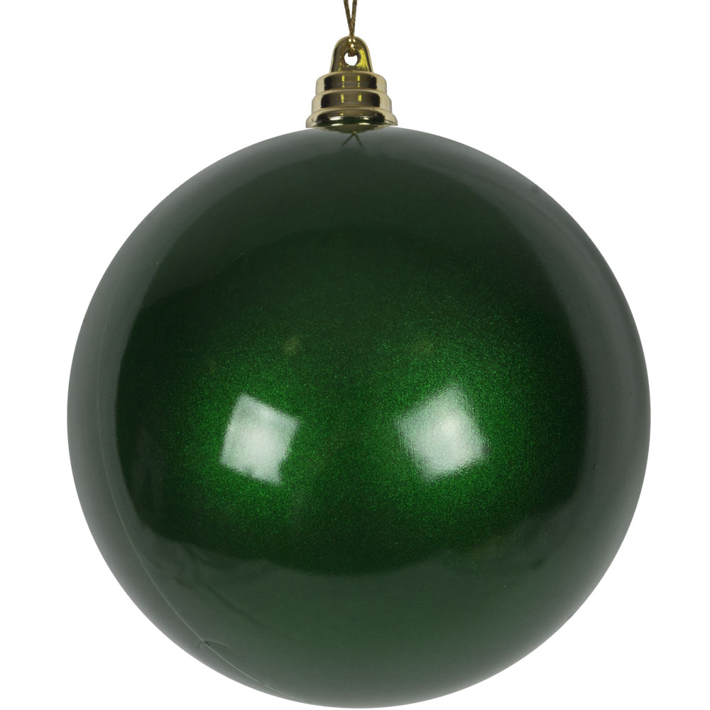 Green Metallic Finish Shatterproof Bauble - 100mm