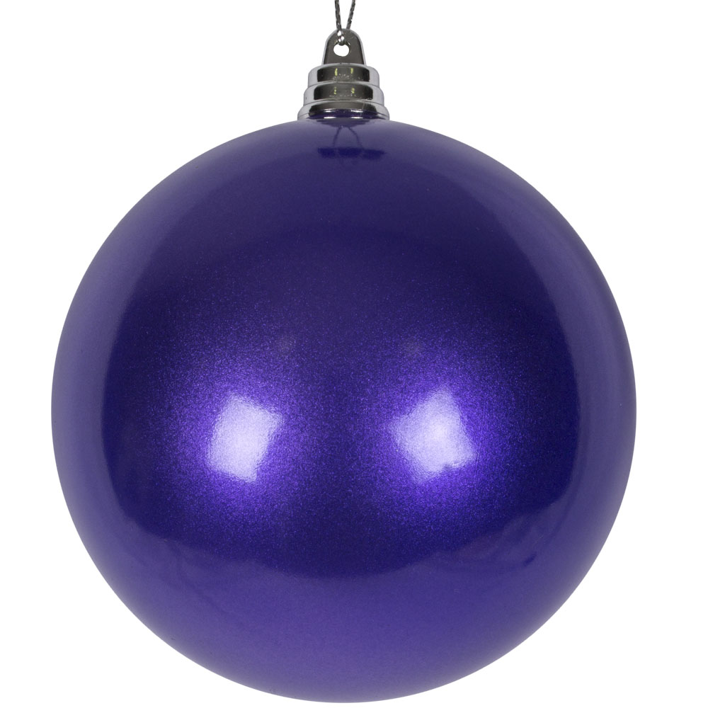 Purple Metallic Finish Shatterproof Bauble - 100mm