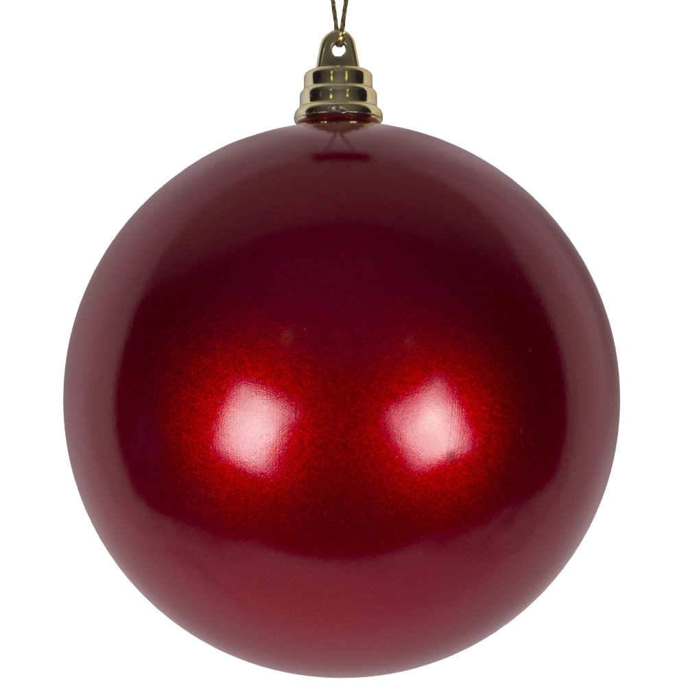 Red Metallic Finish Shatterproof Bauble - 100mm