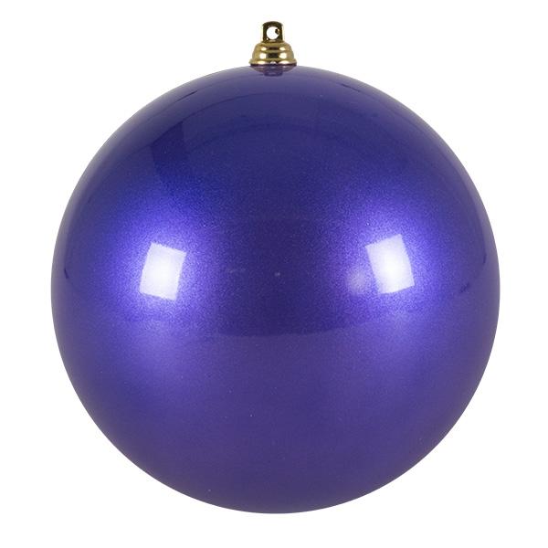 Purple Metallic Finish Shatterproof Bauble - 140mm