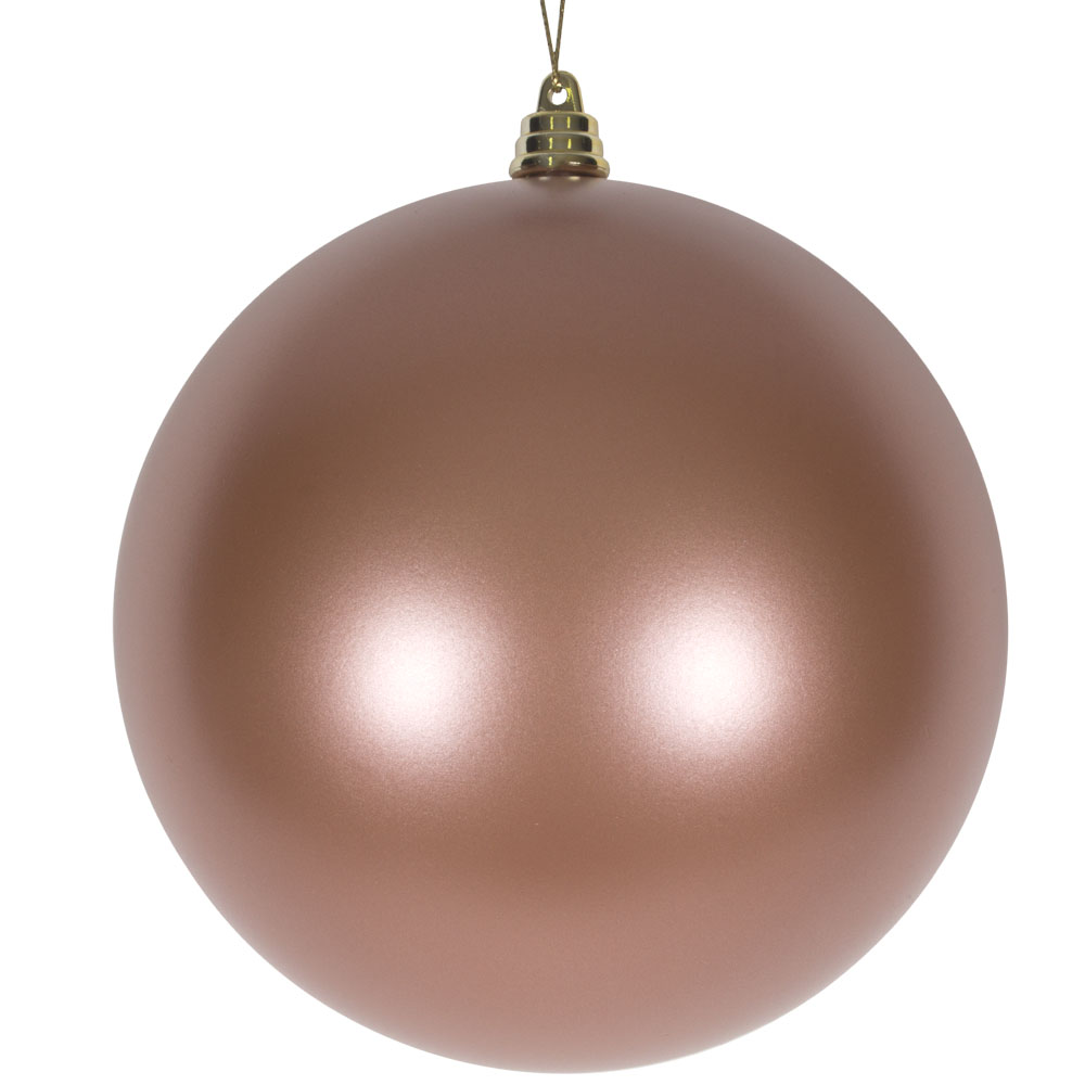 Rose Copper Metallic Finish Shatterproof Bauble - 140mm