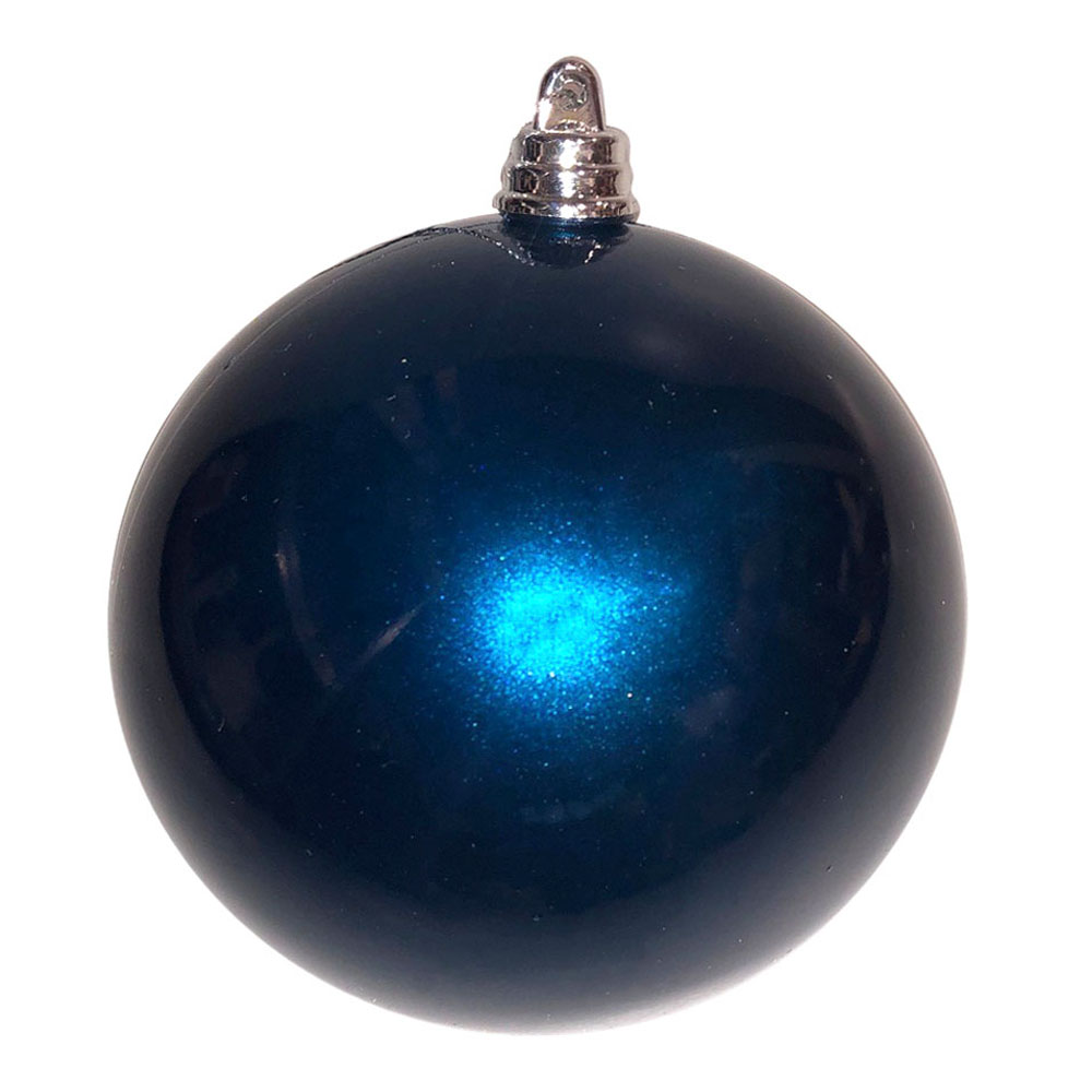 Dark Blue Metallic Finish Shatterproof Bauble - 300mm