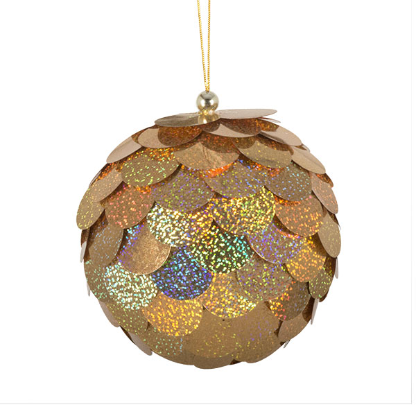 Large Gold Sequin Bauble - 150mm