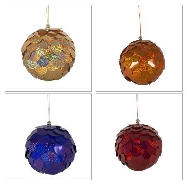 Large Sequin Bauble 150mm Christmas Time Uk