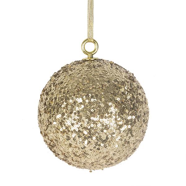 Gold Sequin Ball Hanger - 140mm