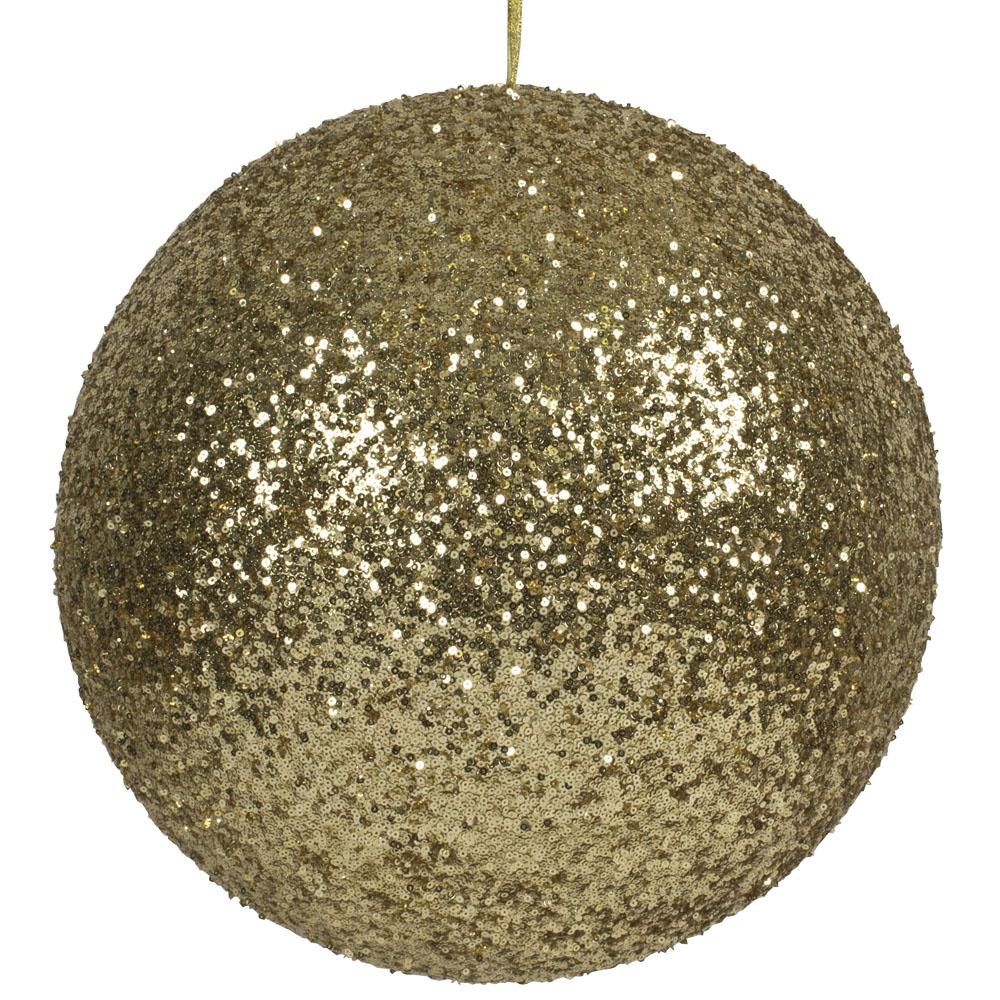 Gold Sequin Ball Hanger - 400mm