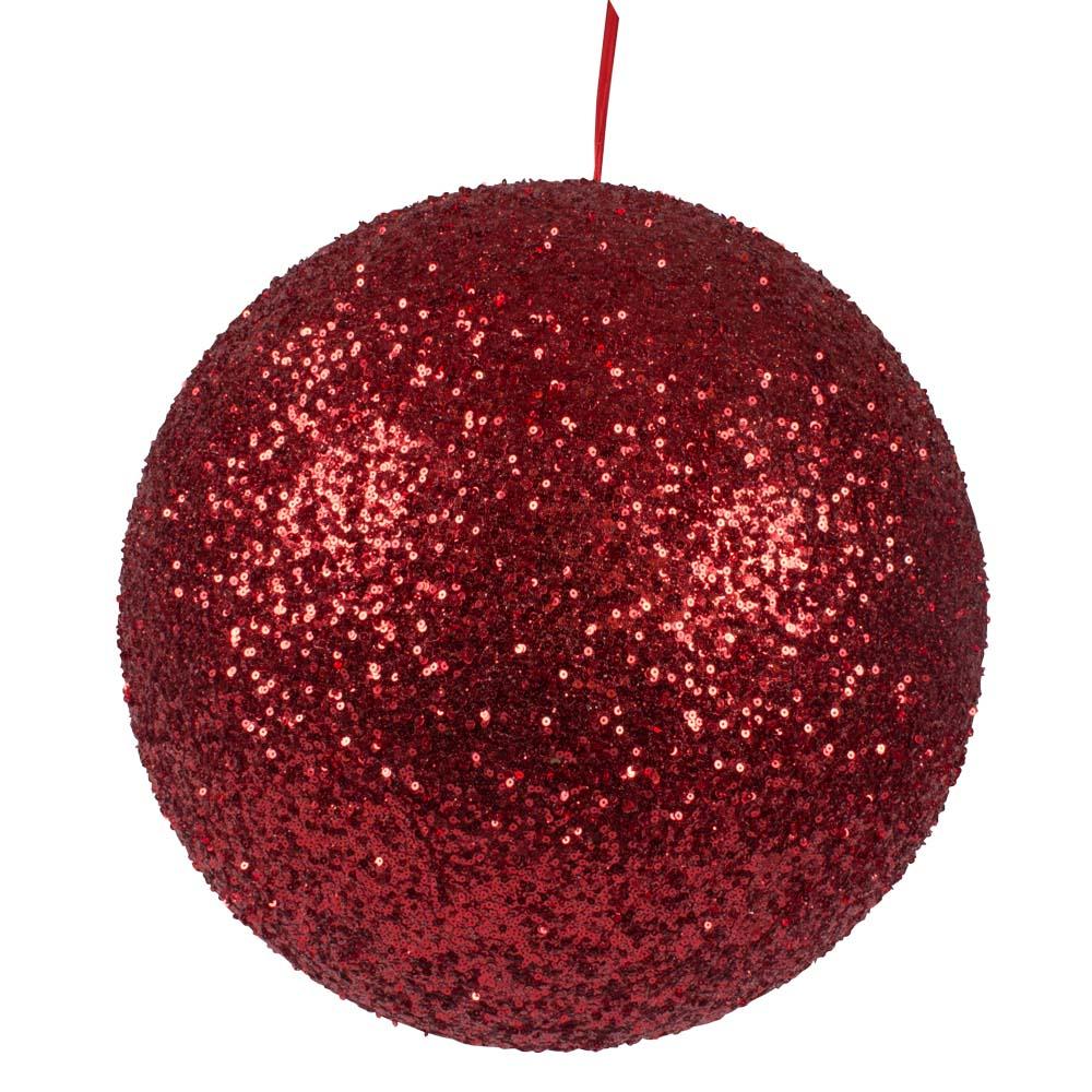 Red Sequin Ball Hanger - 300mm