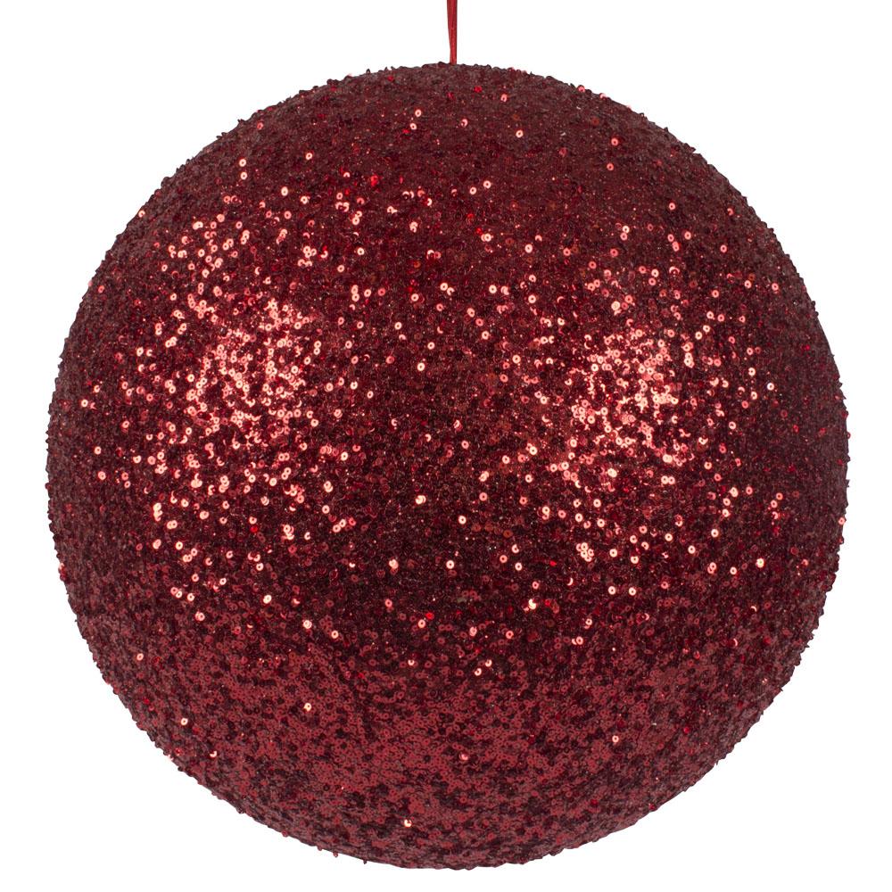 Red Sequin Ball Hanger - 400mm