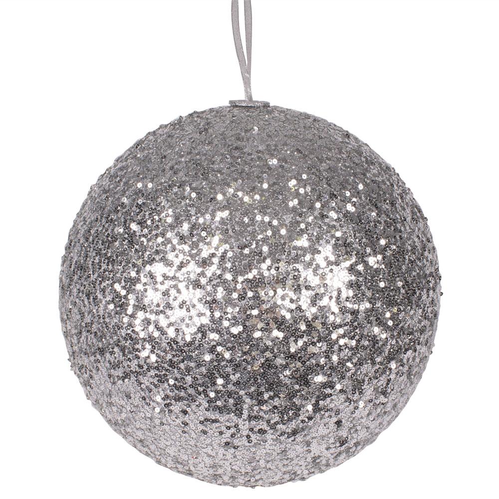 Silver Sequin Ball Hanger - 300mm