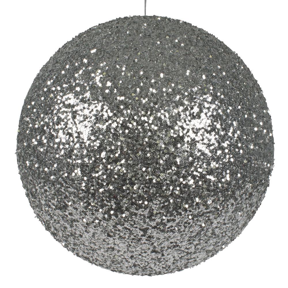 Silver Sequin Ball Hanger - 400mm