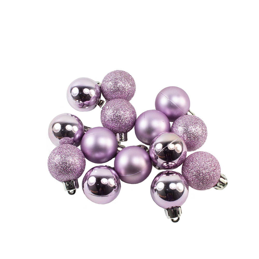 Tube Of Plain Frosted Lilac Shatterproof Baubles - 14 X 30mm