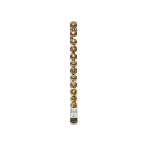 Tube Of Plain Soft Caramel Shatterproof Baubles - 14 X 30mm