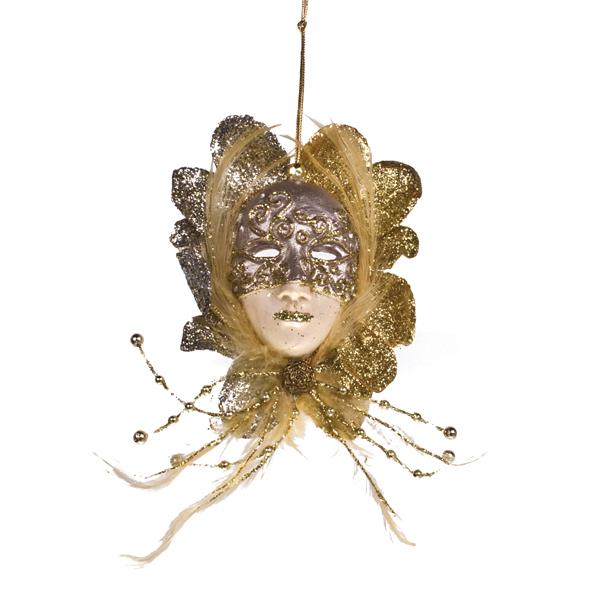 Platinum/Gold Mask Decoration - 20cm