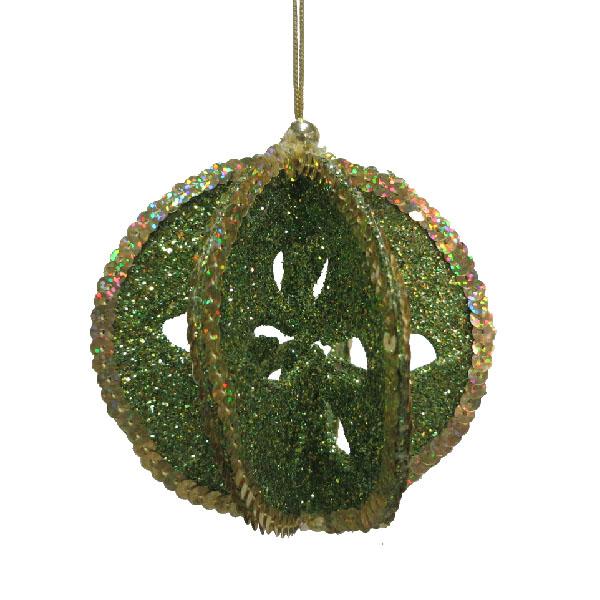 Olive Green & Gold Segmented Hanger - 10cm