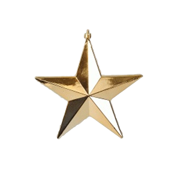 Shatterproof 3d gold shiny star hanging decoration 30cm for 3d star christmas decoration