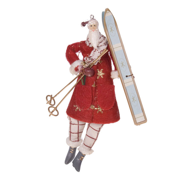 Gisela graham hanging alpine santa decoration 11cm for Alpine decoration