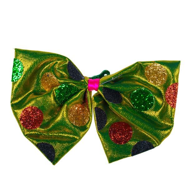 Retro Multicoloured Bow Tie On Clip - 21cm X 15cm