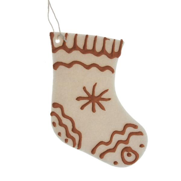 Cream Felt Hanging Stocking - 12cm