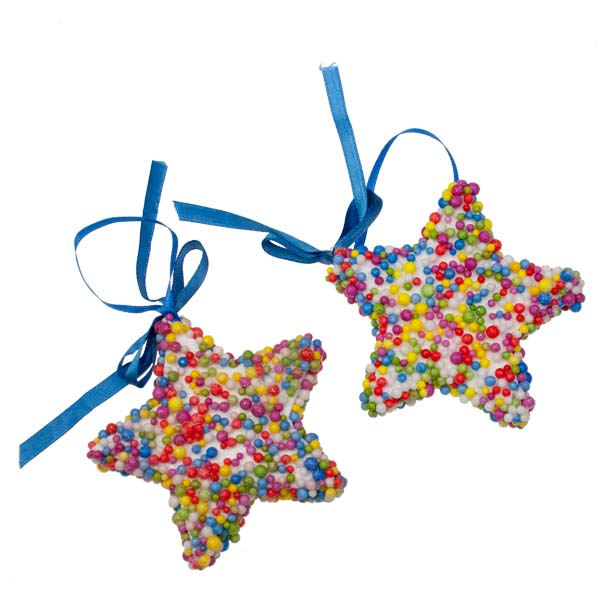 Star Shaped Candy Decorations - 2 x 9cm