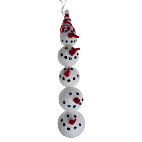Hanging Snowmen Heads Decorations
