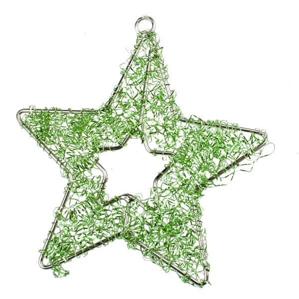 Lime Green Star Hanger - 9cm