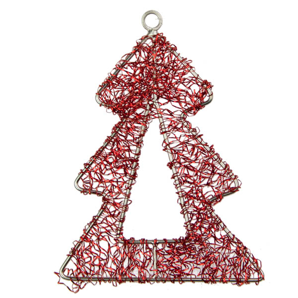 Red Tree Design Hanger - 9cm
