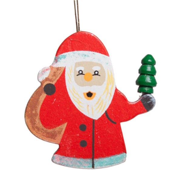Hanging Santa Decoration - 4cm