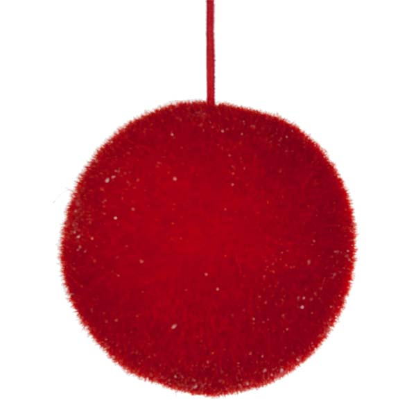 Bristly Red Snowball With Iridescent Flecks - 100mm