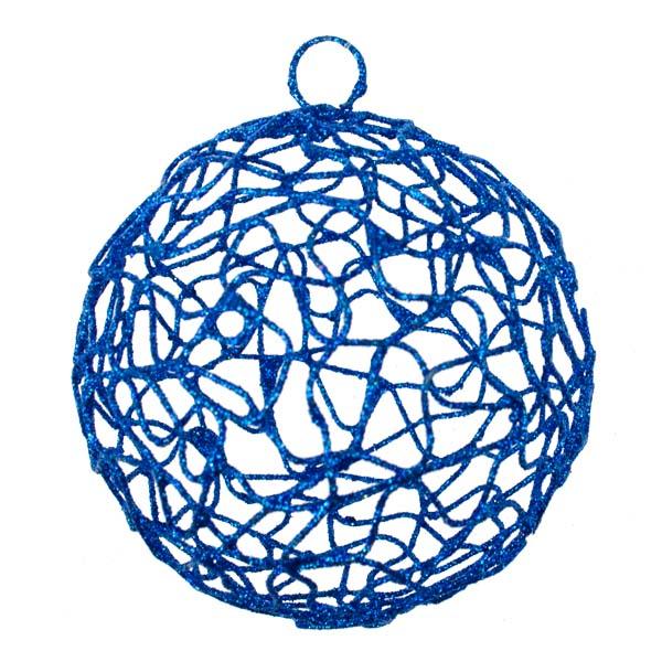 Blue Woven Metal Mesh Decoration - 75mm