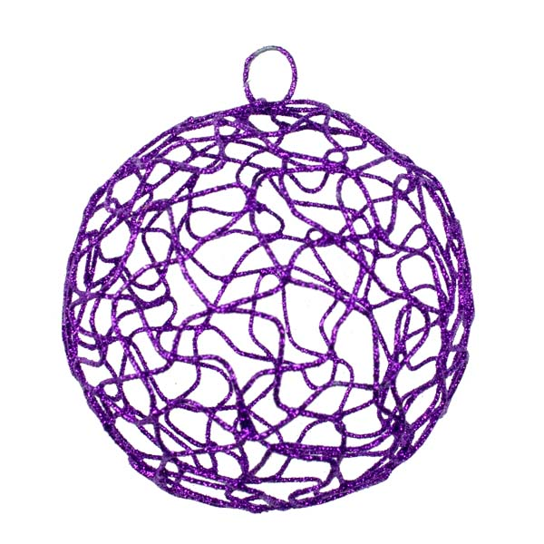 Purple Woven Metal Mesh Decoration - 75mm