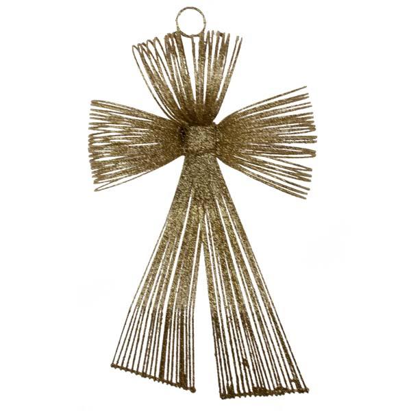 Gold Glitter Loop Bow Decoration - 20cm