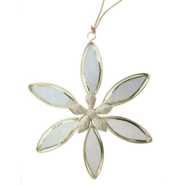 Flower Hanging Decoration With Capiz Shell Petals - 12cm