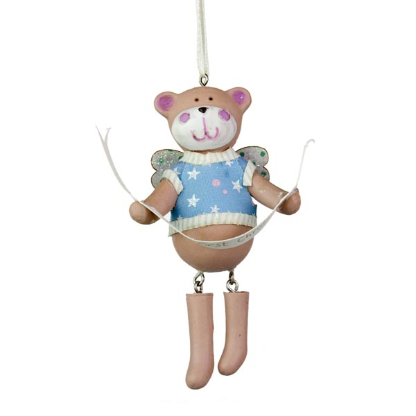 Gisela Graham Baby's 1st Teddy Boy Decoration - 9cm