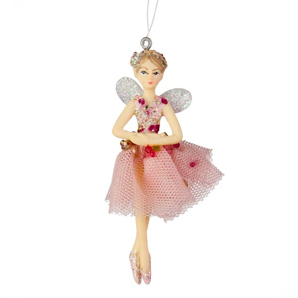 Gisela graham sugar plum fairy hanging decoration with for Ballet shoes christmas decoration