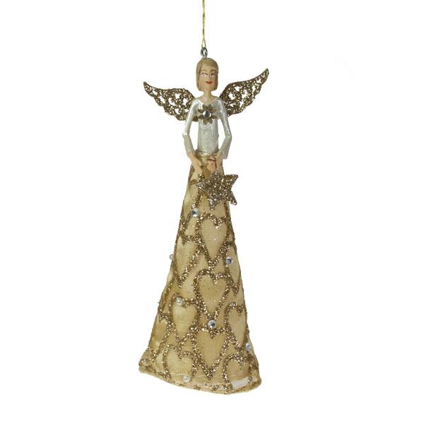 Gisela Graham Silent Night Angel With Star - 12cm