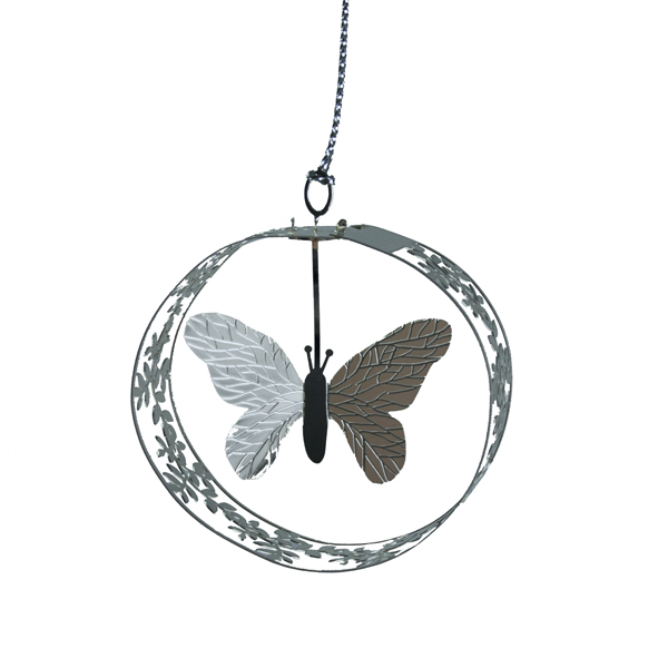 Pluto Fine Metal Butterfly Hanging Decoration - 5cm