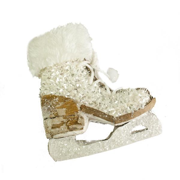 Sparkling Glitter Hanging Skate Boots - 14cm