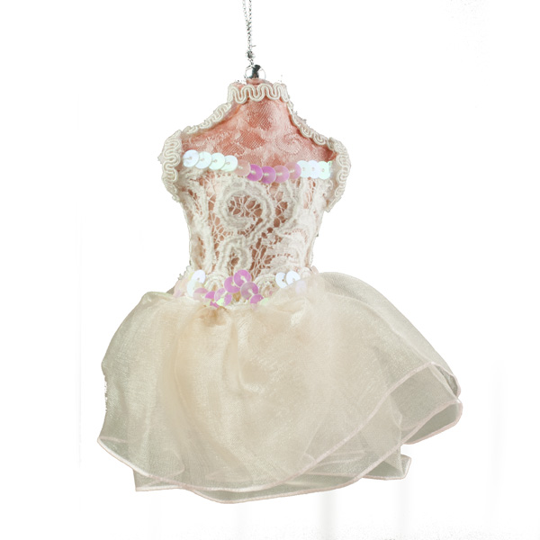 Soft Pink Hanging Ballerina Dress - 12cm x 15cm