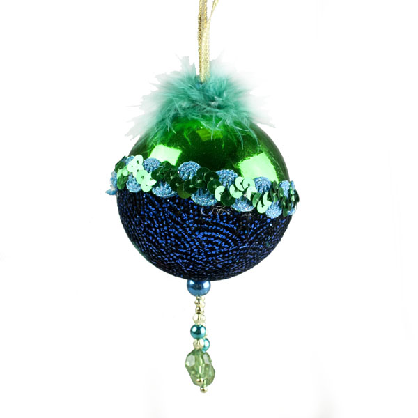 Emerald Ball Hanger With Shiny Top - 8cm