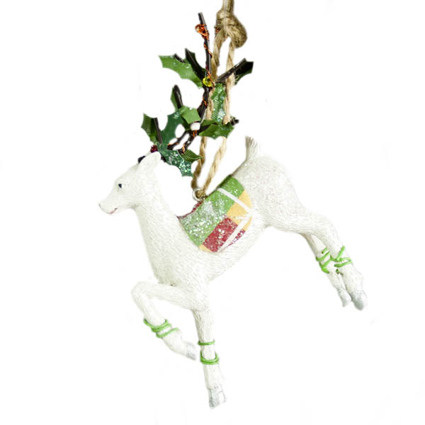 Gisela Graham Highland Forest Reindeer Hanging Decoration - 10cm