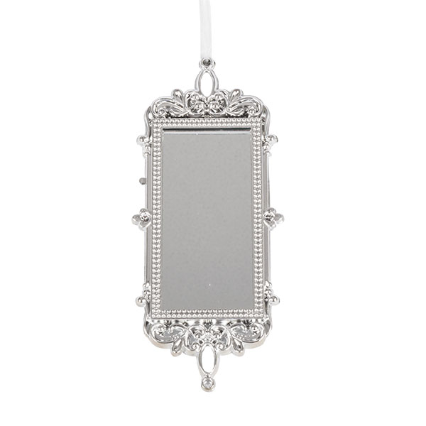 Silver Rectangle Shaped Mirror Hanging Decoration