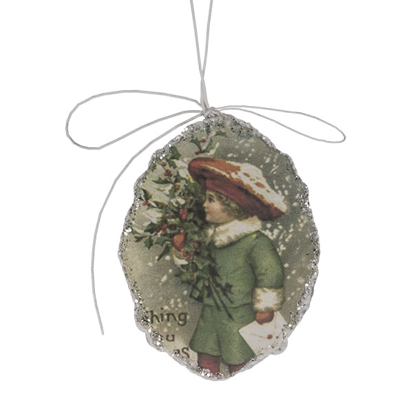 Oval Shaped Nostalgia Paper Hanging Decoration