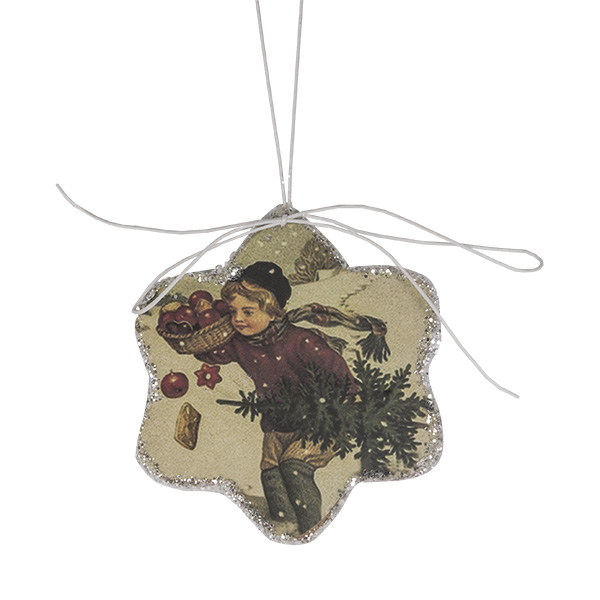 Star Shaped Nostalgia Paper Hanging Decoration