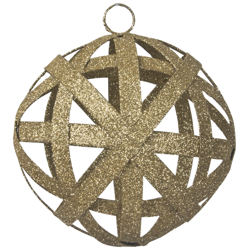 Gold Interlaced Metal Bauble - 100mm