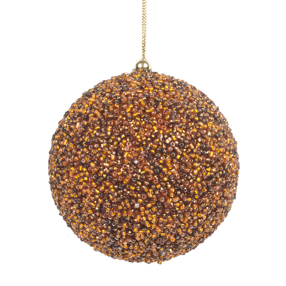 Copper Beaded Bauble - 80mm