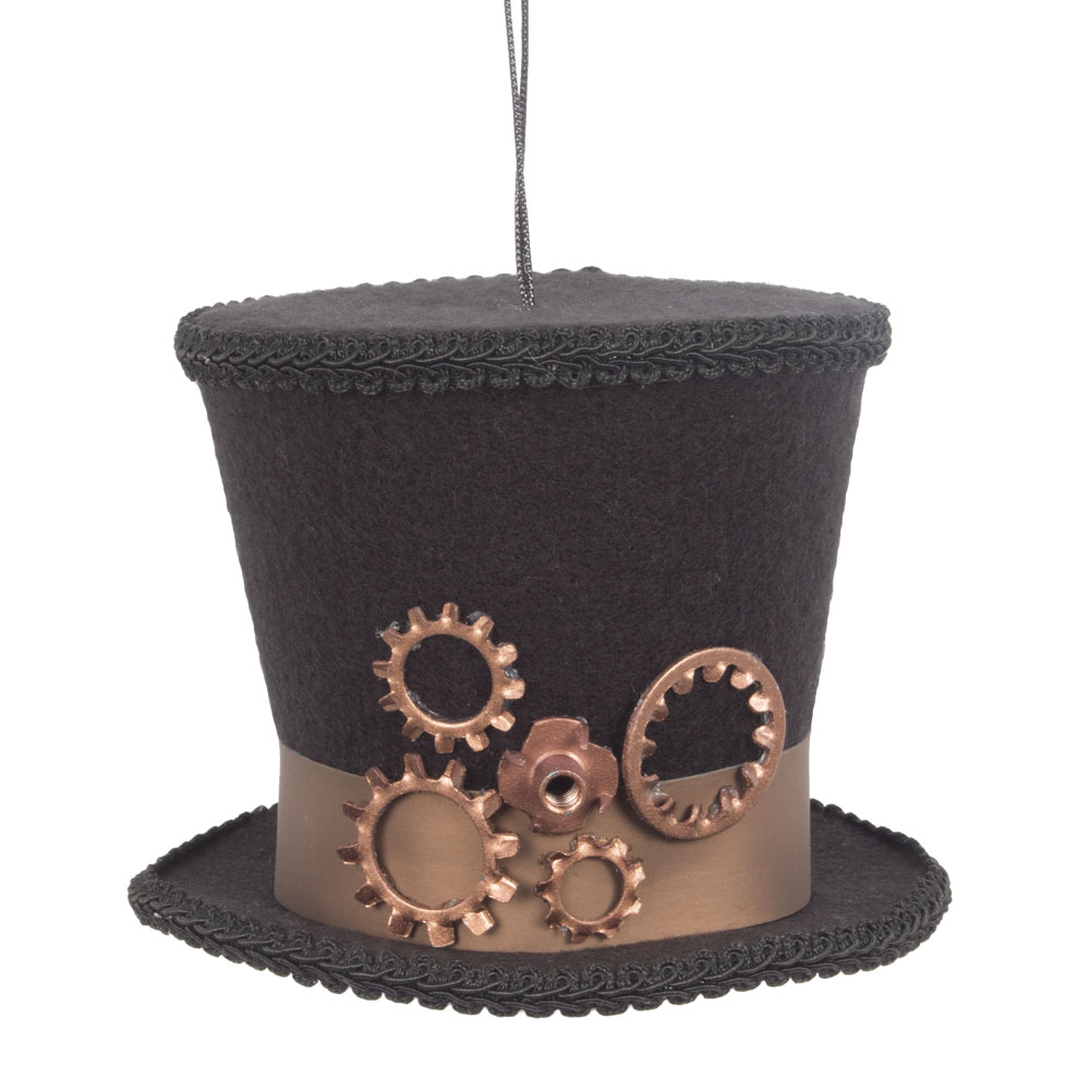 Steampunk Top Hat Hanging Decoration - 10cm