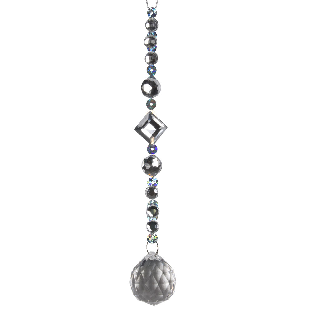 Acrylic Diamond Bead Hanging Decoration - 17cm