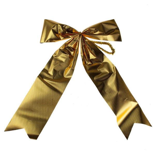 Gold Outdoor Tree Bow - 32cm