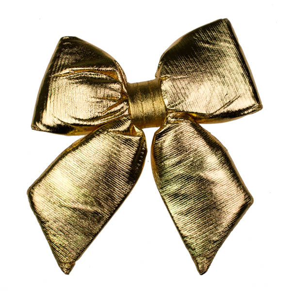 Padded Gold Satin Bow - 34cm