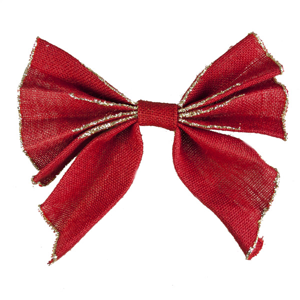 Red Large Bow on Clip - 25cm